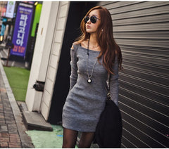 Womens Vicki Autumn Knitted Bodycon Dress