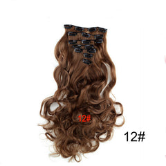 Wavy Curly Clip In Hair Extensions Full Head Set (7 Pieces)