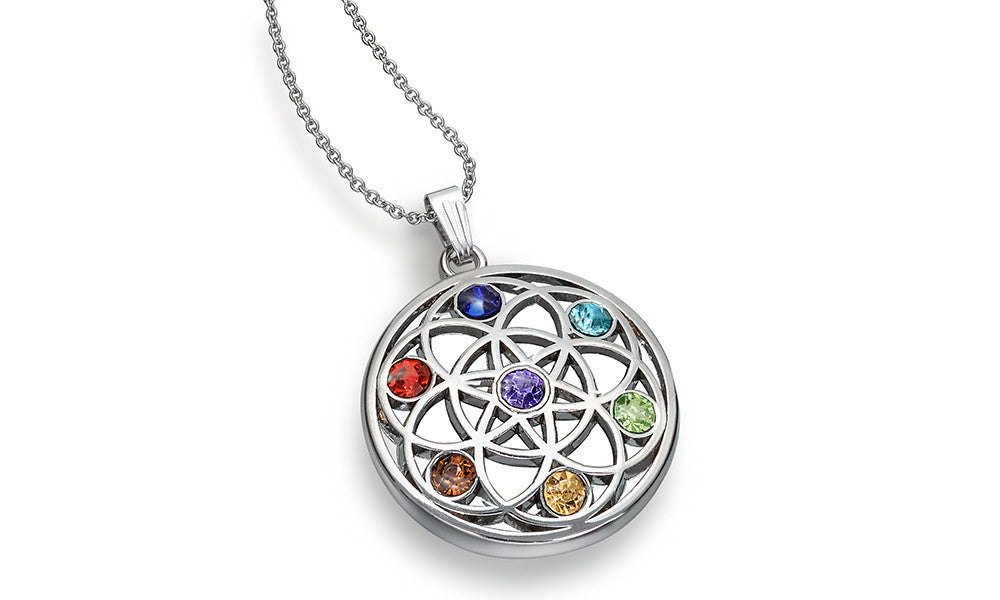Chakra Necklace with Swiss Crystals
