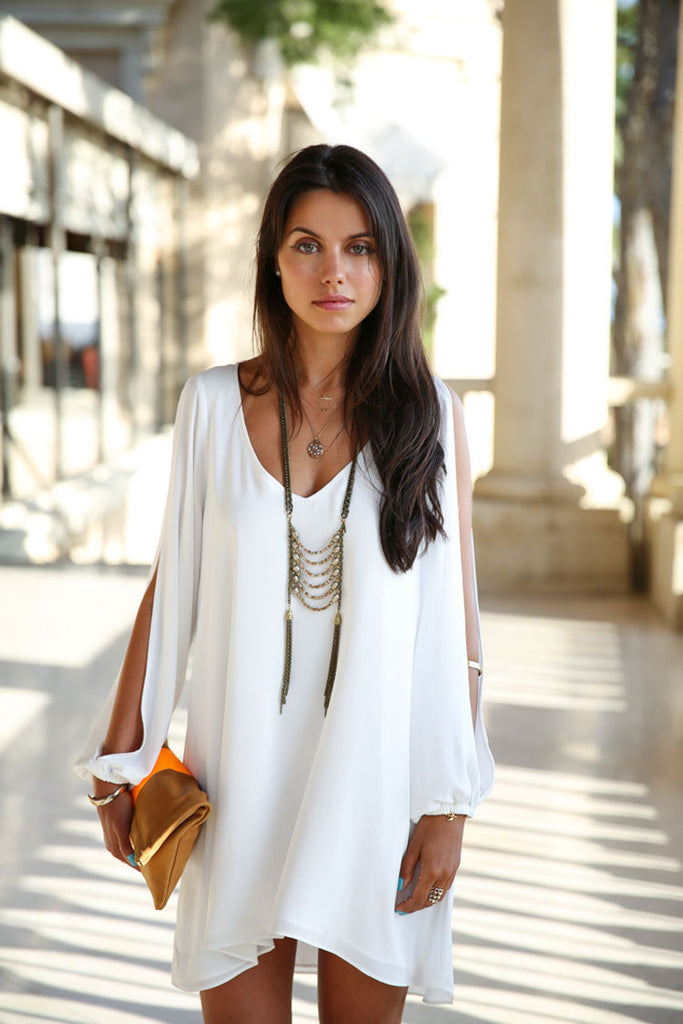 Chiffon Loose V-Neck Sleeveless Dress