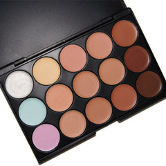 Professional Foundation and Concealer Makeup Palette - 15 Colors