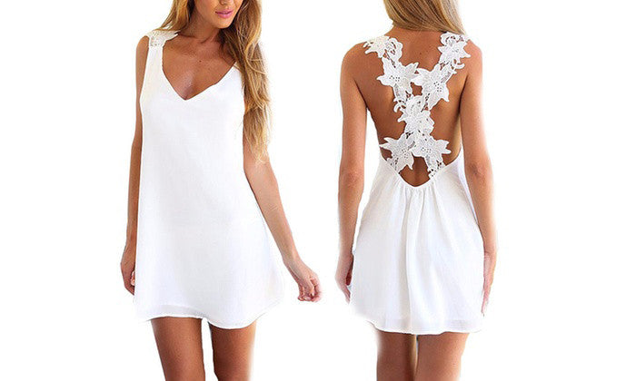 White Chiffon Annabelle Dress