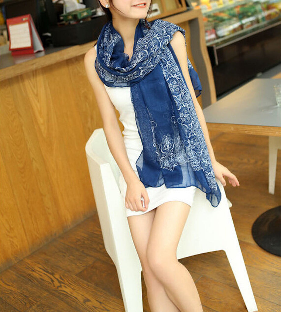 Womens Quality Porcelain Shawl