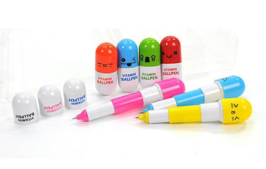 Capsule Ball Ballpoint Pens for Kids (Pack of 6)