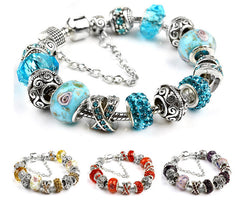 Charm Bracelet with Swiss Crystals