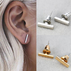 Punk Fashion Gold and Silver Earrings