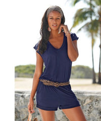 Ladies Casual V-Neck Short Playsuit