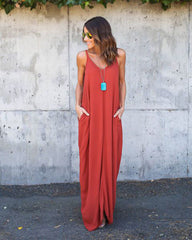 Ladies Kaylee Boho Maxi Dress