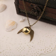 Gold Plated Snitch Necklace
