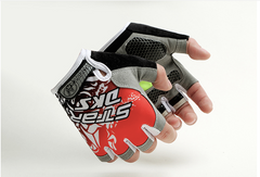 Mens Half Finger Bike Gloves