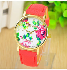Ladies Flowers Wrist Watch with Swarovski Elements