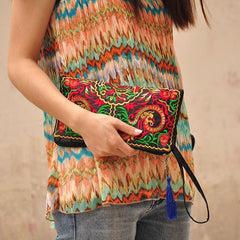 Embroidered Clutch Purse