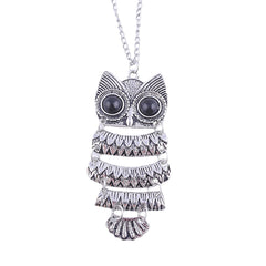 Vintage Necklace Owl Pendant