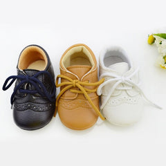 Unisex Baby PU Leather First Walkers