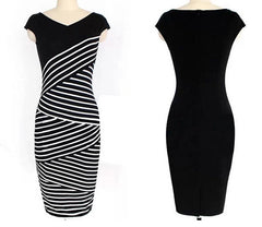 Ladies Striped Multilayer Dress