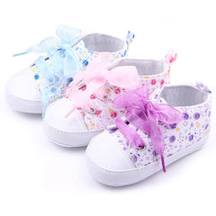 Baby Girls Soft Cotton Floral Sneakers
