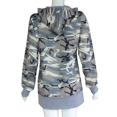 Stacy Camouflage Hooded Sweater