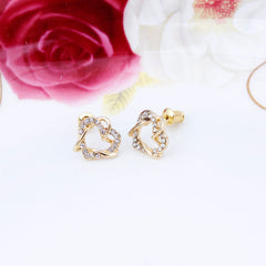 18K Gold Plated Soulmate Heart Necklace and Earrings Set