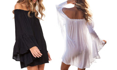 Ladies Off-The-Shoulder Beach Dress