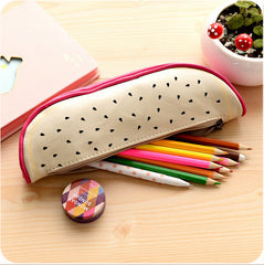 Fruit Pattern PU Leather Pencil Case
