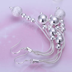 Sterling Silver Plated Beads Earrings