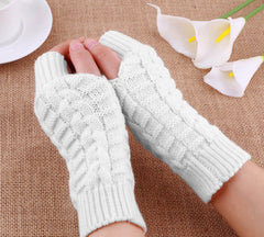 Unisex Knitted Fingerless Winter Gloves
