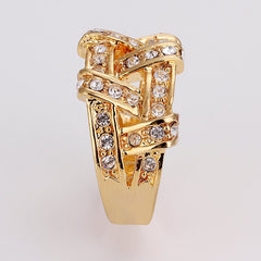 18k Ladies Woven Gold Ring