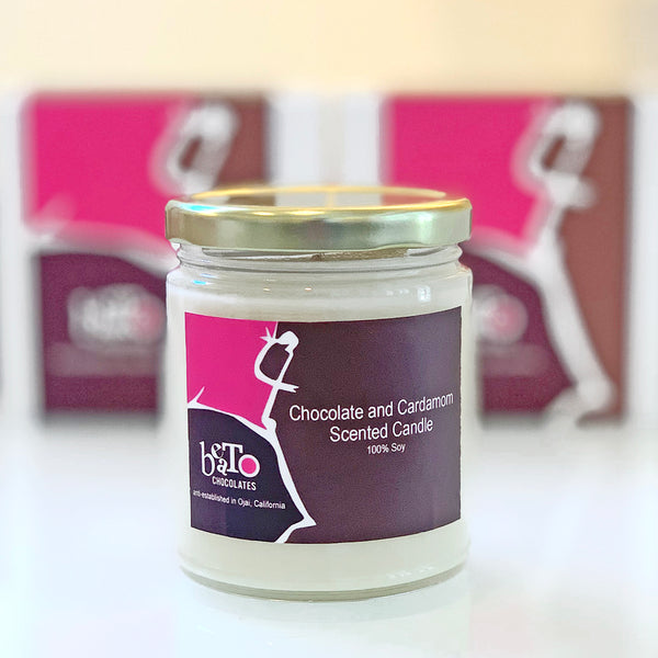 Chocolate and Cardamom Scented Candle