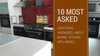 10 Most Asked Questions Answered About Buying Kitchen Appliances
