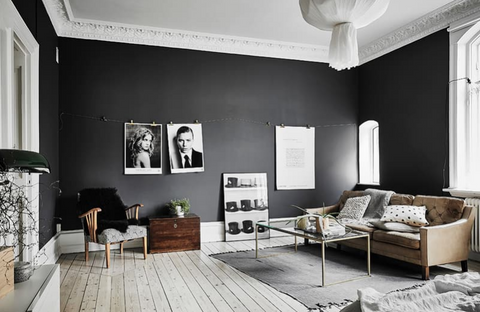 Apartment with Black Walls