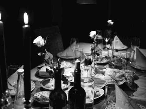 Dinner party table