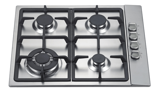 60cm Stainless Steel Gas Cooktop with Cast Iron Trivetts - Elfa BLGSW60C