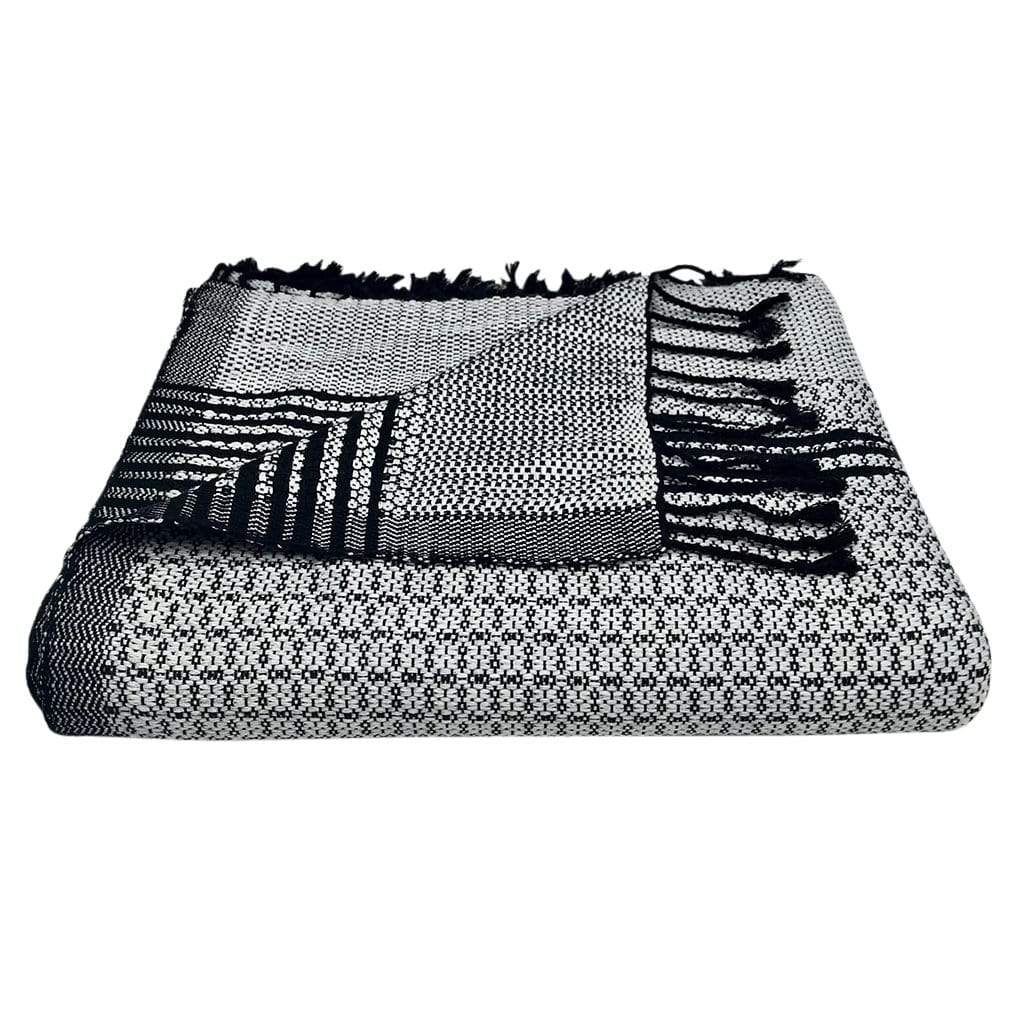 Ariel - Cambodia Tapestry Throw - Silver