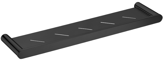 Bad und Kuche Bathroom Metal Shelf - Black - BK2310B