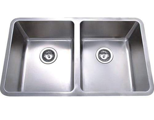 Bad und Kuche Double Bowl Undermount Sink  -  Axon BKR76D