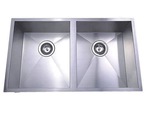 Bad und Kuche Double Bowl Undermount Sink  - Cubic BKS76D