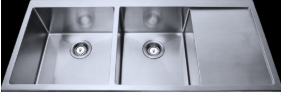 Bad und Kuche Kitchen Premium Double Bowl Sink - Square BKR114