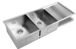 Bad und Kuche Kitchen Premium Double Bowl Sink - Square BKS114