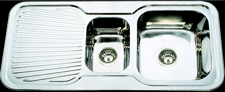Bad und Kuche Kitchen Sink 1 + 1/2 Bowl  - RHB BK98
