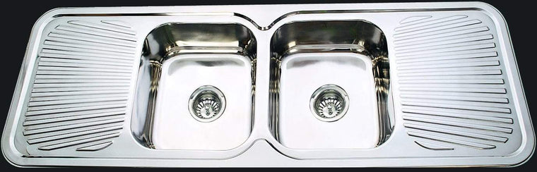 Bad und Kuche Kitchen Sink Double Bowl Double Drainer - BK138