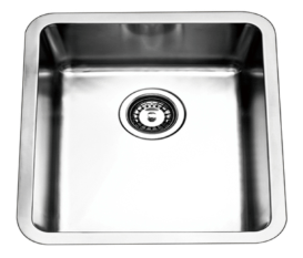 Bad und Kuche Single Bowl Undermount Sink  - BKR4444