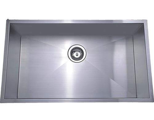 Bad und Kuche Square Single Bowl Undermount Sink - Cubic BKS72