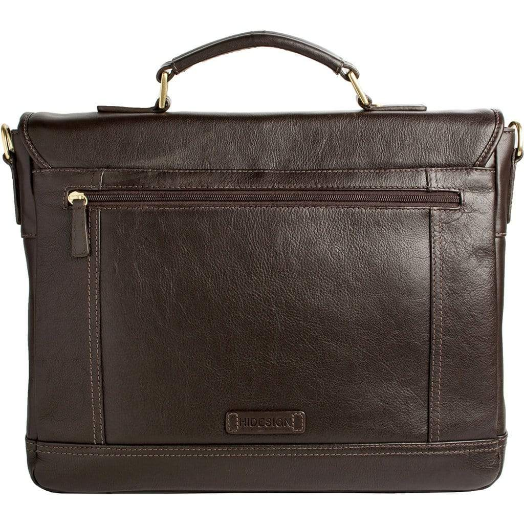 Hidesign Hunter Leather Briefcase - Brown