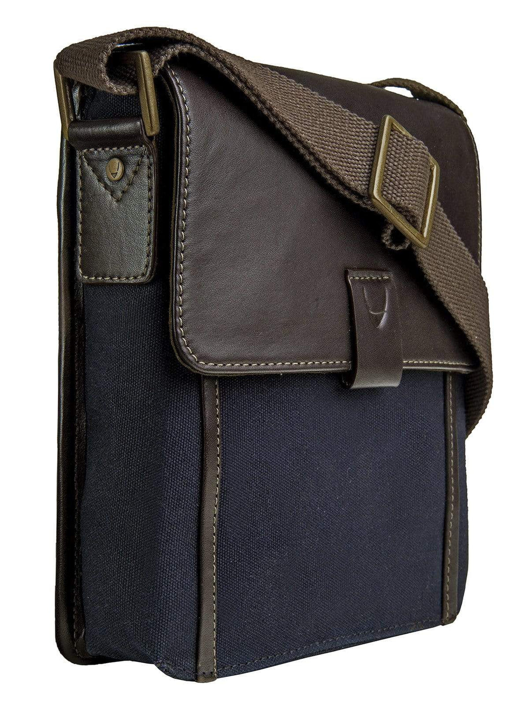 Hidesign Mens Leather & Canvas Cross Body Bag
