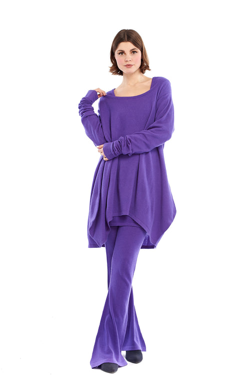 Pure Cashmere Dutch Jumper Purple