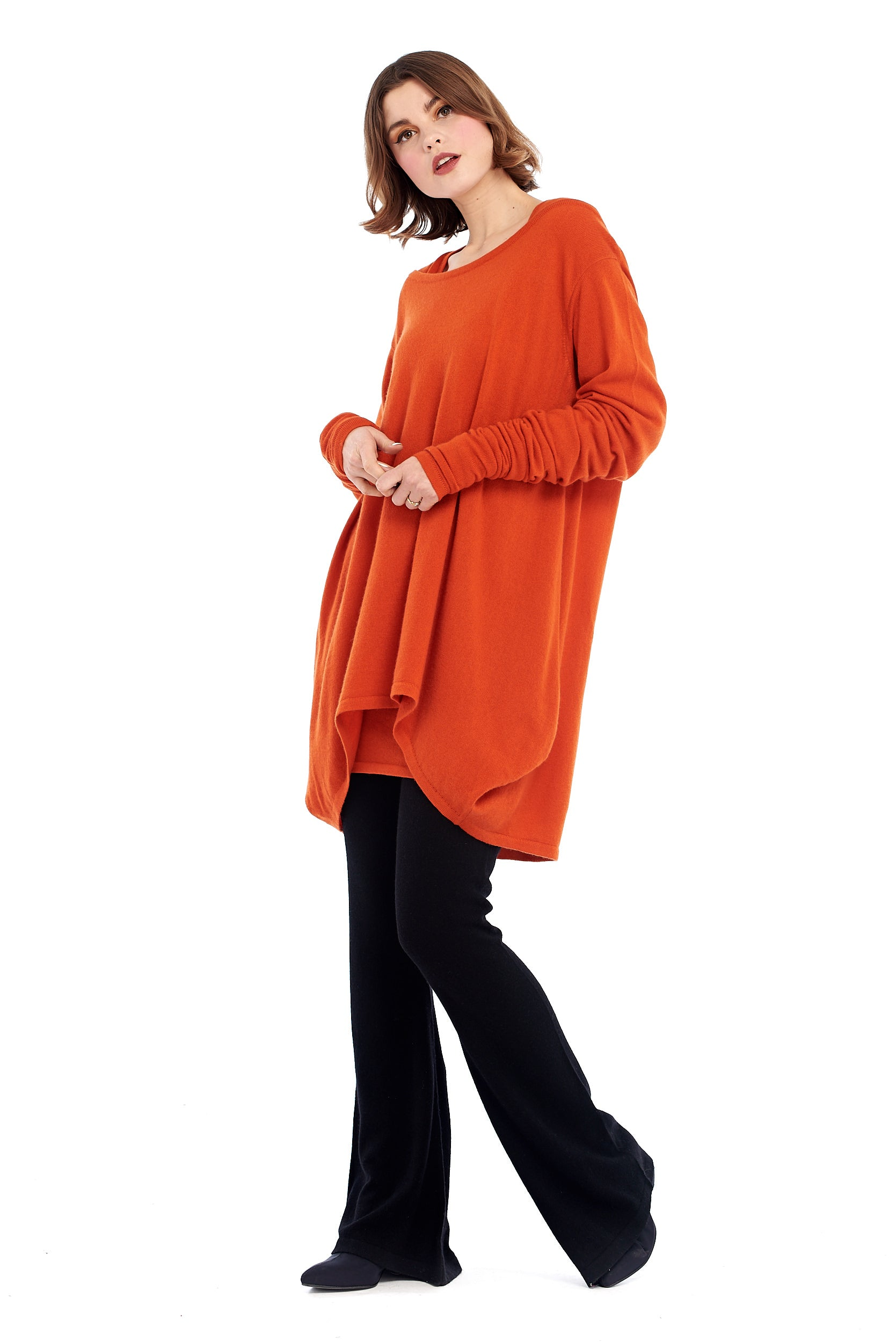Pure Cashmere Dutch Jumper Spicy Orange