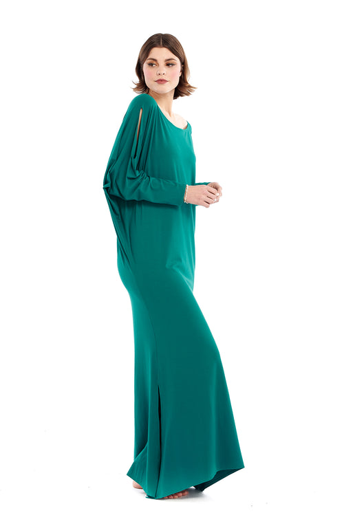 Bamboo Grecian Grace Dress Jade