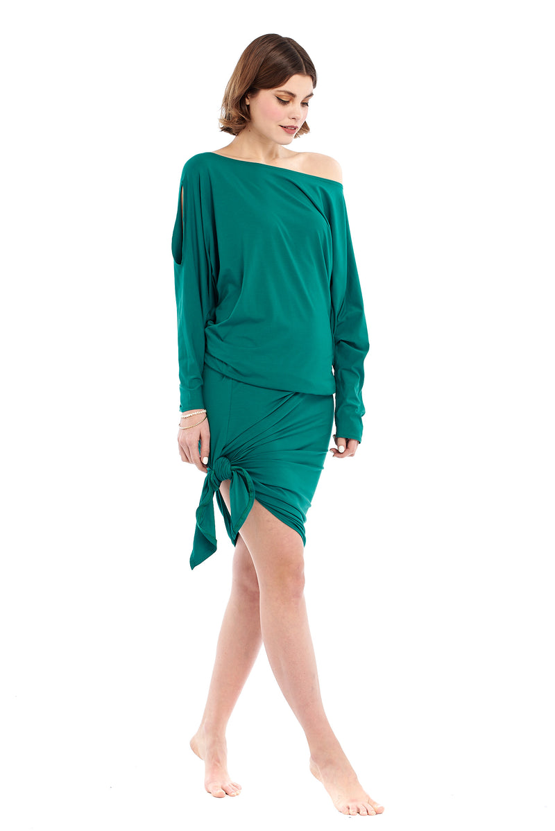Bamboo Grecian Grace Dress Jade - MUDRA
