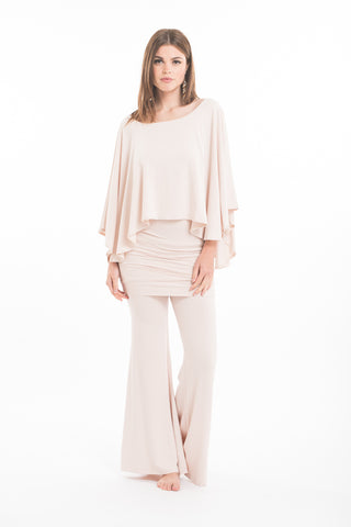 Bamboo Asymmetric Top Ecru