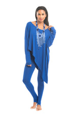 Bamboo Long Leggings Cobalt Blue - MUDRA